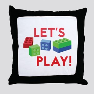 Lego Blocks Throw Pillow