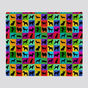 Dog Pattern Throw Blanket
