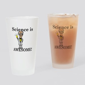 Science Is Awesome Drinking Glass