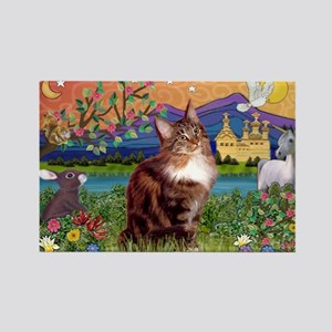Maine Coon in Fantasy Land Rectangle Magnet