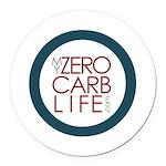 My Zero Carb Life Circle Logo Round Car Magnet