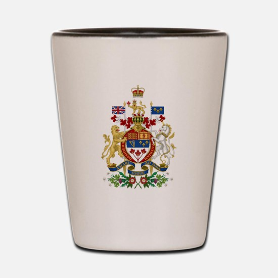 Canada's Coat of Arms Shot Glass