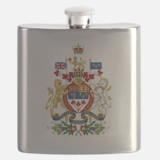 Canada's Coat of Arms Flask