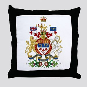 Canada's Coat of Arms Throw Pillow