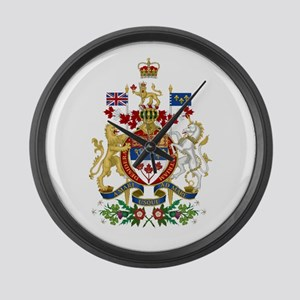 Canada's Coat of Arms Large Wall Clock