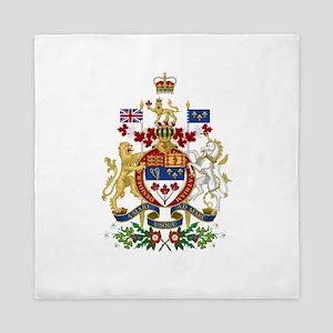 Canada's Coat of Arms Queen Duvet