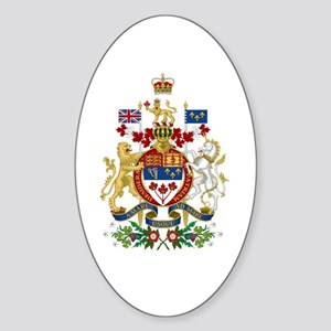 Canada's Coat of Arms Sticker (Oval)
