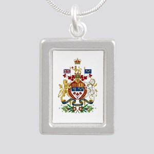 Canada's Coat of Arms Silver Portrait Necklace