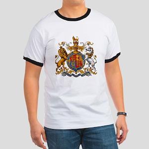 British Royal Coat of Arms Ringer T