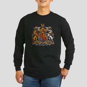 British Royal Coat of Arm Long Sleeve Dark T-Shirt