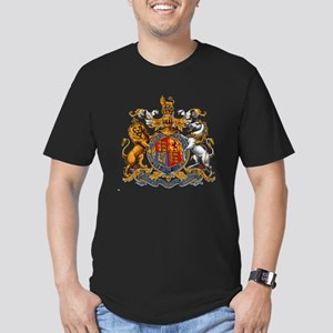 British Royal Coat of Men's Fitted T-Shirt (dark)