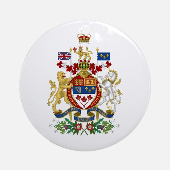 Canada's Coat of Arms Ornament (Round)