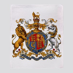 British Royal Coat of Arms Throw Blanket