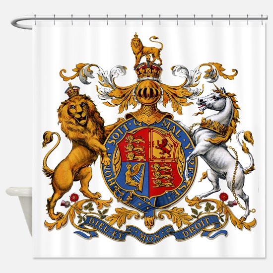 British Royal Coat of Arms Shower Curtain