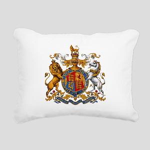 British Royal Coat of Ar Rectangular Canvas Pillow