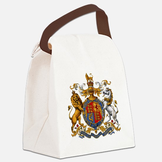 British Royal Coat of Arms Canvas Lunch Bag
