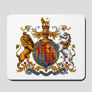 British Royal Coat of Arms Mousepad