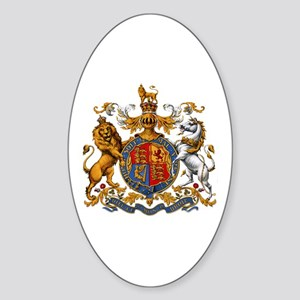 British Royal Coat of Arms Sticker (Oval)