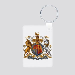 British Royal Coat of Arms Aluminum Photo Keychain