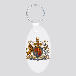 British Royal Coat of Arms Aluminum Oval Keychain