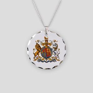 British Royal Coat of Arms Necklace Circle Charm