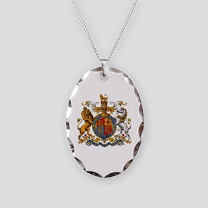 British Royal Coat of Arms Necklace Oval Charm