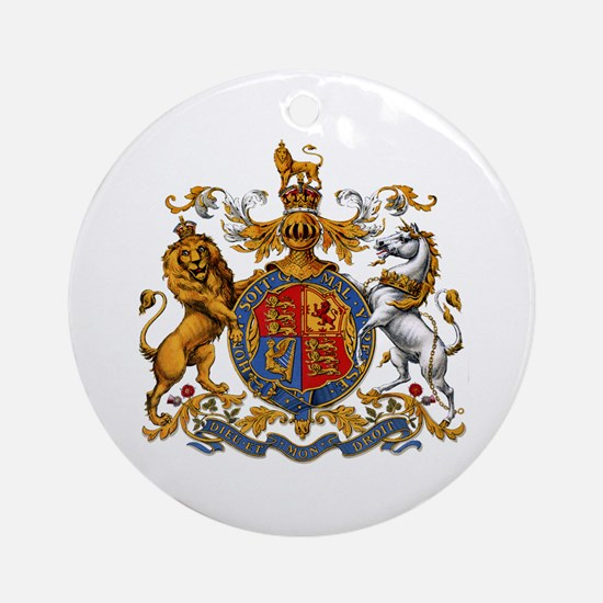 British Royal Coat of Arms Ornament (Round)
