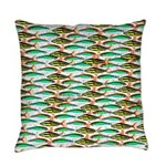 School of Tropical Amazon Fish 1 Everyday Pillow