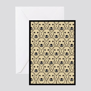 Lots of Yellow Labs Greeting Card