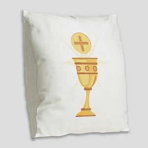 Communion Burlap Throw Pillow