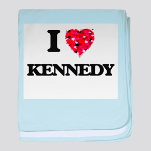 I Love Kennedy baby blanket
