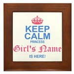 Princess is Here Framed Tile