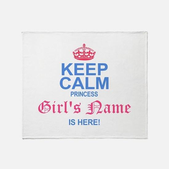 Princess is Here Throw Blanket