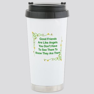 GOOD FRIENDS ARE LIKE A Stainless Steel Travel Mug