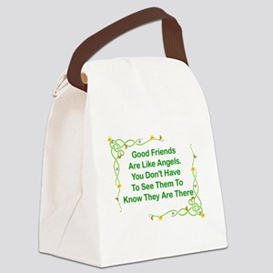 GOOD FRIENDS ARE LIKE ANGELS Canvas Lunch Bag