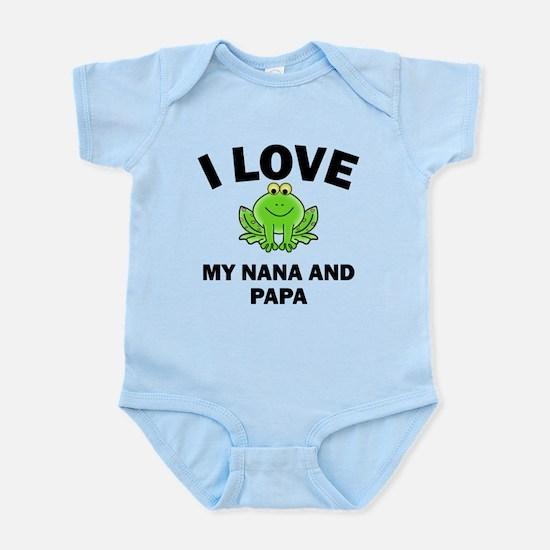 I Love My Nana And Papa Body Suit