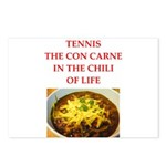 tennis joke Postcards (Package of 8)