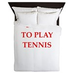 tennis joke Queen Duvet