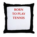 tennis joke Throw Pillow