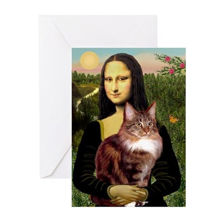 Mona's Maine Coon Greeting Cards (Pk of 20)