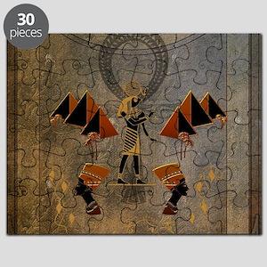 Anubis the egyptian god, pyramid Puzzle