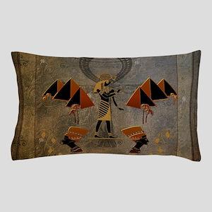 Anubis the egyptian god, pyramid Pillow Case