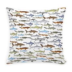 School of Sharks 2 Everyday Pillow