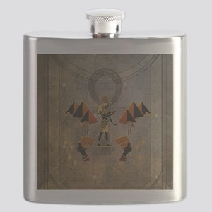 Anubis the egyptian god, pyramid Flask