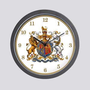 British Royal Coat of Arms Wall Clock