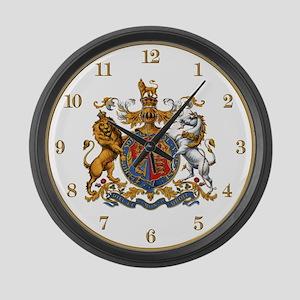 British Royal Coat of Arms Large Wall Clock
