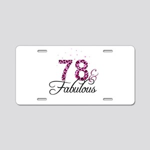 78 and Fabulous Aluminum License Plate