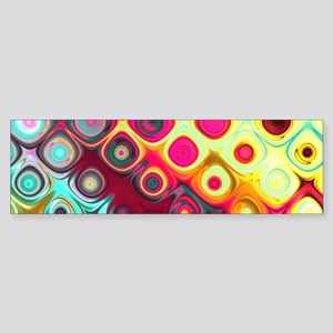 Megafunky Rainbow patterns Bumper Sticker