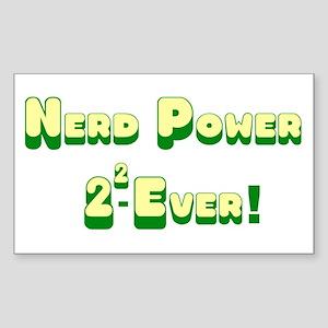 Nerd Power Rectangle Sticker