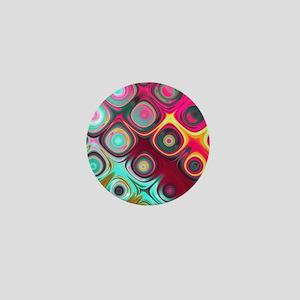 Megafunky Rainbow patterns Mini Button